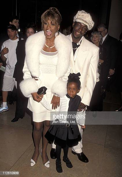 Singer Whitney Houston singer Bobby Brown and daughter Bobbi Kristina Brown attend the Fourth Annual International Achievement in Arts Awards on...