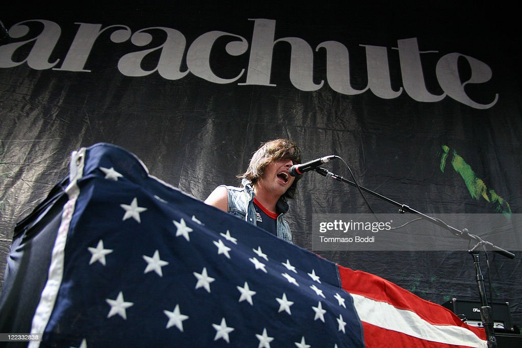 Singer Will Anderson of the Parachute performs at the Greek Theatre on August 27, 2011 in Los Angeles, California.