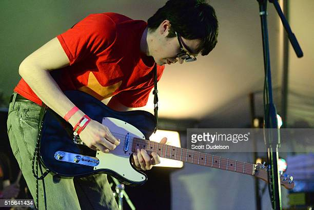 Singer Will Toledo of Car Seat Headrest performs during the Do512 SXSW party on March 14 2016 in Austin Texas