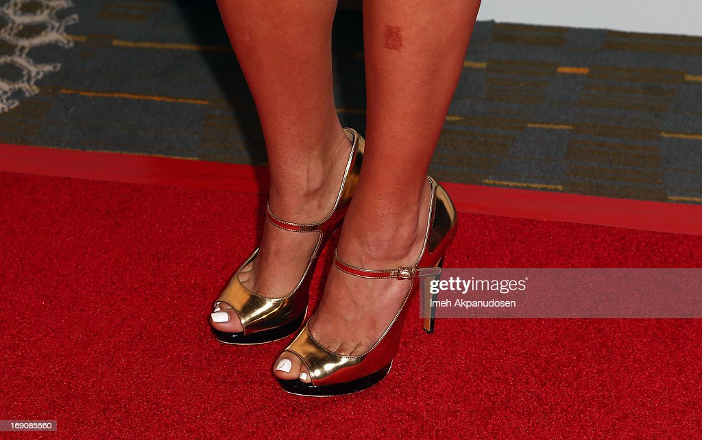 Singer Willa Ford (shoe detail) attends the 28th Anniversary Sports Spectacular Gala at the Hyatt Regency Century Plaza on May 19, 2013 in Century City, California.