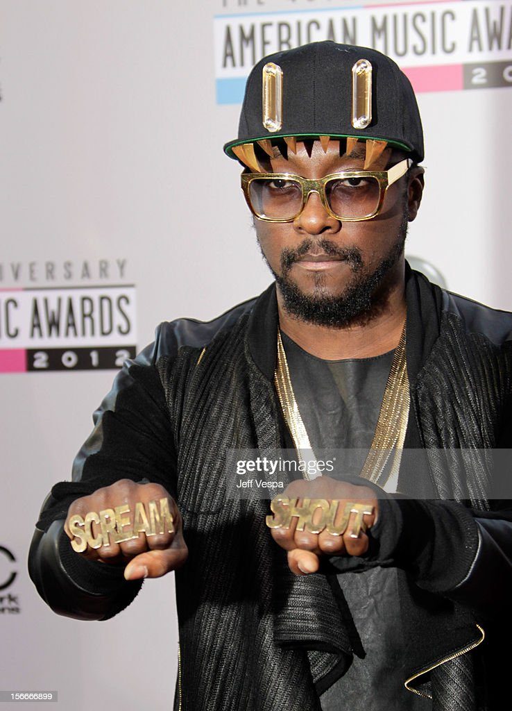 Singer will.i.am attends the 40th Anniversary American Music Awards held at Nokia Theatre L.A. Live on November 18, 2012 in Los Angeles, California.