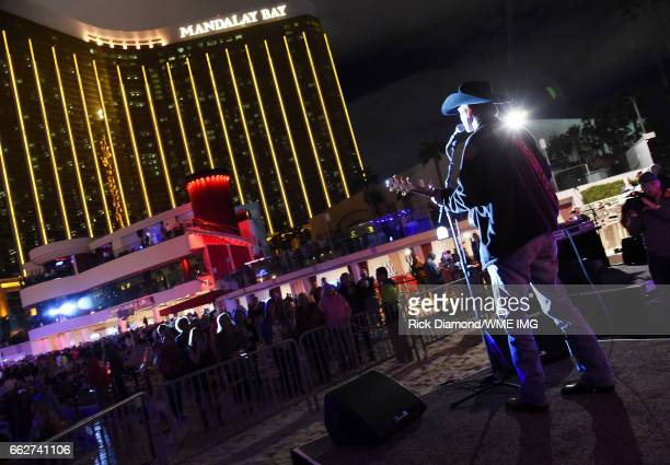 Singer William Michael Morgan performs onstage at the Bash at the Beach presented by WME at the Mandalay Bay Beach at Mandalay Bay Resort and Casino...