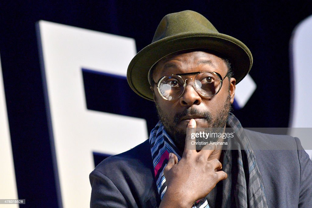 Singer Will.i.am speaks on stage during the SalesForce forum as part of the Cannes Lions International Festival of Creativity on June 24, 2015 in Cannes, France.