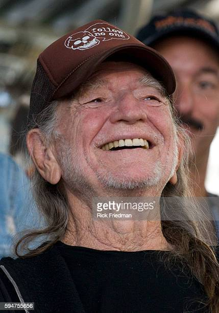 Singer Willie Nelson at the press conference prior to the Farm Aid concert at the Comcast Center in Mansfield