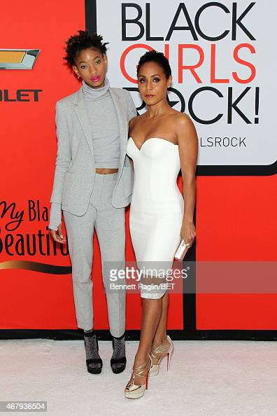 Singer Willow Smith and actress Jada Pinkett Smith attend the BET's 'Black Girls Rock' Red Carpet sponsored by Chevrolet at NJPAC – Prudential Hall...