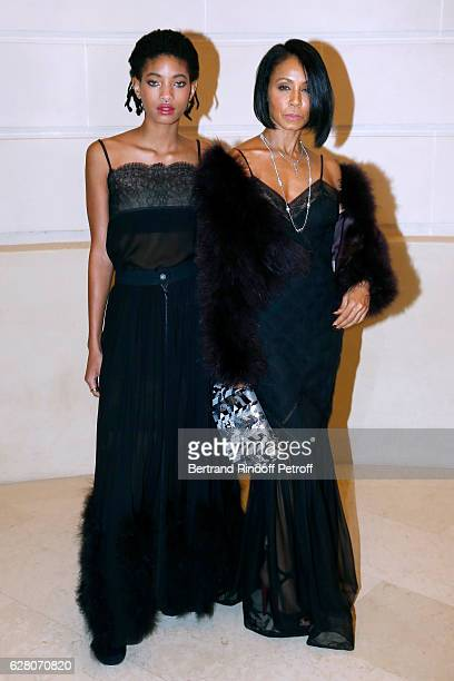 Singer Willow Smith and her mother actress Jada Pinkett Smith attend the 'Chanel Collection des Metiers d'Art 2016/17 Paris Cosmopolite' Photocall at...