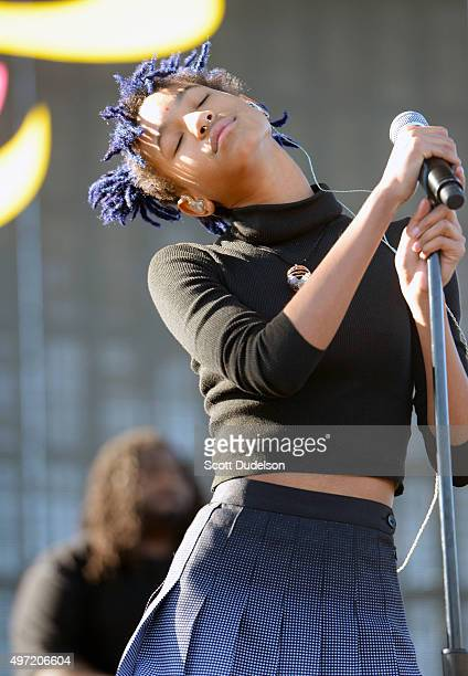 Singer Willow Smith performs onstage at the Los Angeles Memorial Coliseum on November 14 2015 in Los Angeles California