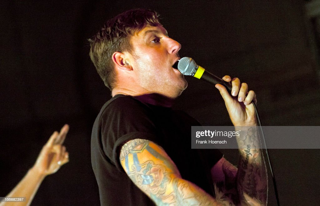 Singer Winston McCall of Parkway Drive performs live during a concert at the Huxleys on November 23, 2012 in Berlin, Germany.