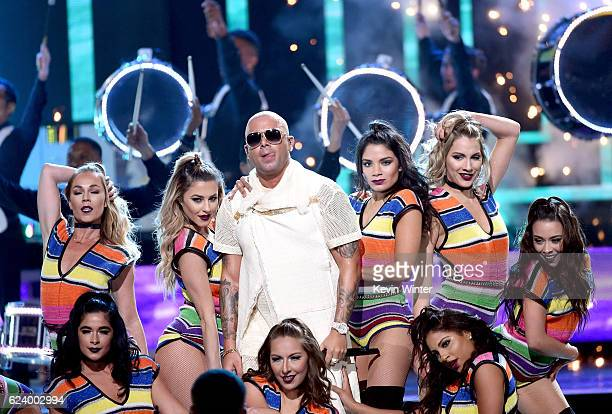 Singer Wisin performs onstage during The 17th Annual Latin Grammy Awards at TMobile Arena on November 17 2016 in Las Vegas Nevada