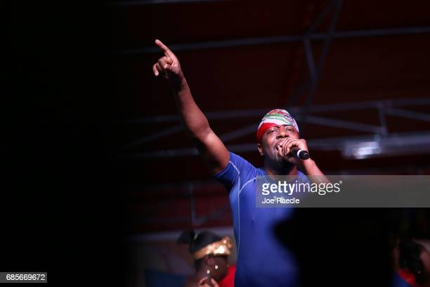 Singer Wyclef Jean plays at the 'Sounds of Little Haiti' concert at the Haitian Cultural Complex where he also spoke about the need for the extension...