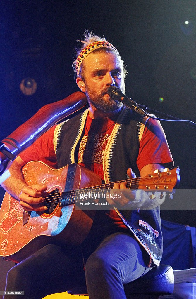 Singer <a gi-track='captionPersonalityLinkClicked' href=/galleries/search?phrase=Xavier+Rudd&family=editorial&specificpeople=223946 ng-click='$event.stopPropagation()'>Xavier Rudd</a> performs live during a concert at the Postbahnhof on July 31, 2012 in Berlin, Germany.