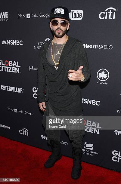 Singer Yandel attends the 2016 Global Citizen Festival In Central Park To End Extreme Poverty By 2030 at Central Park on September 24 2016 in New...