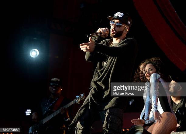Singer Yandel performs onstage at the 2016 Global Citizen Festival in Central Park To End Extreme Poverty By 2030 at Central Park on September 24...