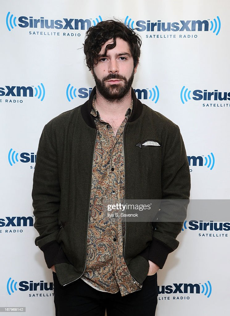 Singer <a gi-track='captionPersonalityLinkClicked' href=/galleries/search?phrase=Yannis+Philippakis&family=editorial&specificpeople=4453909 ng-click='$event.stopPropagation()'>Yannis Philippakis</a> of the band Foals visits the SiriusXM Studios on May 3, 2013 in New York City.