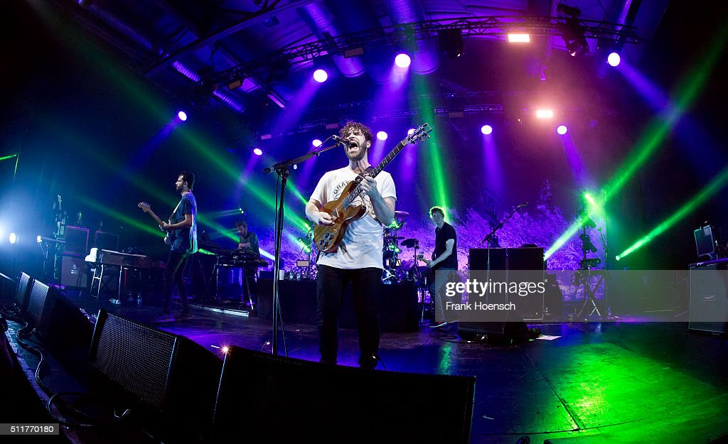 Singer Yannis Philippakis of the British band Foals performs live during a concert at the Columbiahalle on February 22 2016 in Berlin Germany