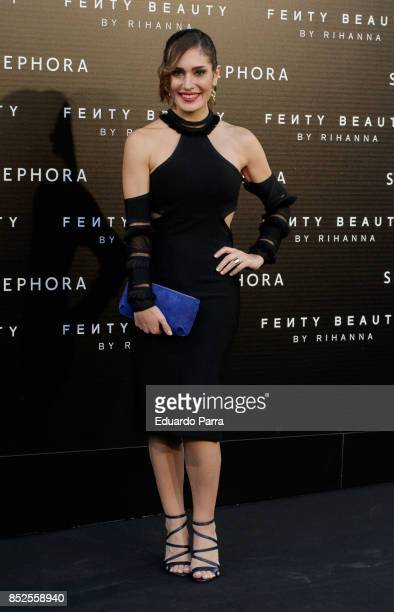 Singer Yara Puebla attends the Fenty Beauty photocall at Callao cinema on September 23 2017 in Madrid Spain
