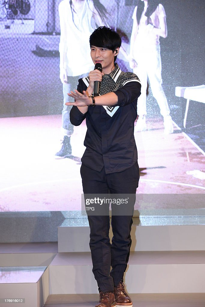 Singer Yen-j promotes his new album on Sunday August 18,2013 in Shanghai,China.