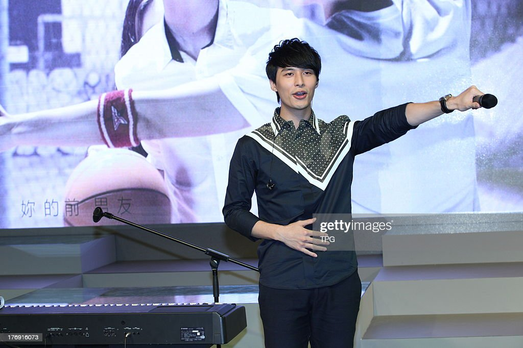 Singer Yen-j promotes his new album on Sunday August 18,2013 in Shanghai,China.