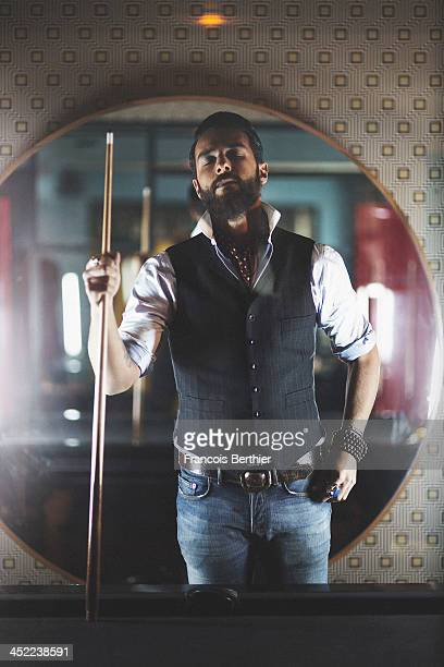 Singer Yodelice is photographed for Self Assignment on October 15 2013 in Paris France
