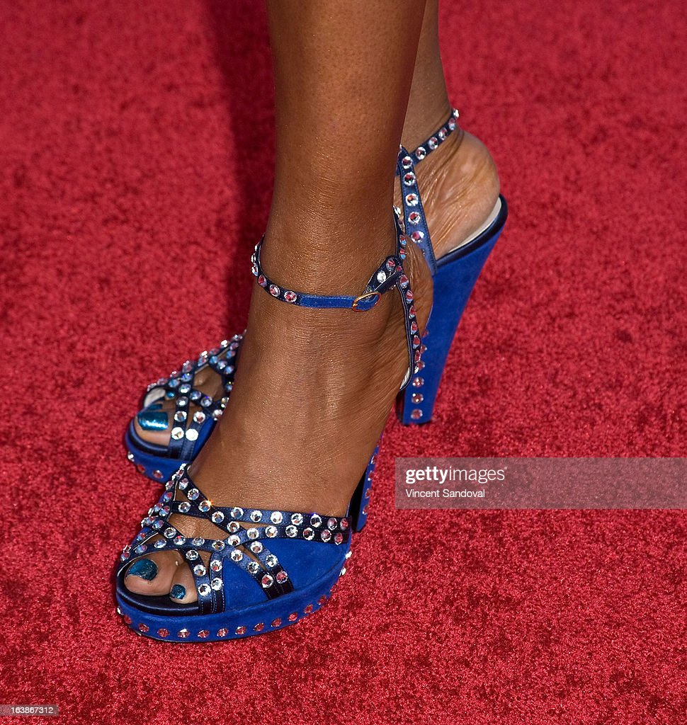 Singer Yolanda Adams (shoe detail) attends the BET 13th annual 'Celebration Of Gospel' at Orpheum Theatre on March 16, 2013 in Los Angeles, California.