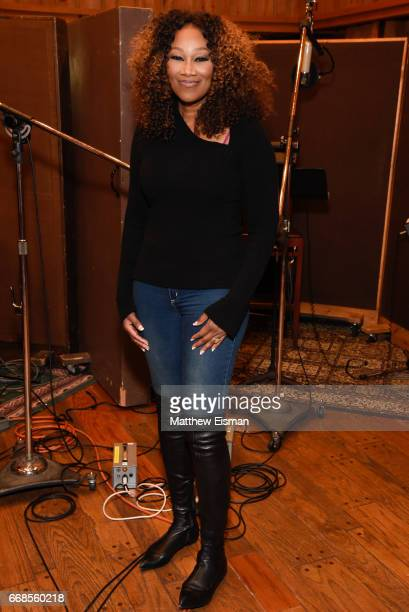 Singer Yolanda Adams poses for a photo during the recording of the upcoming release 'Testimony' at Avatar Studios on April 14 2017 in New York City