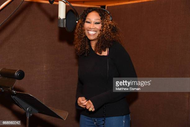 Singer Yolanda Adams records for the upcoming release 'Testimony' at Avatar Studios on April 14 2017 in New York City