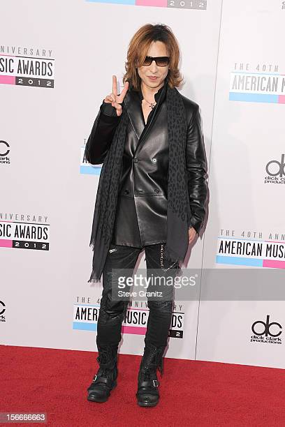 Singer Yoshiki Hayashi attends the 40th Anniversary American Music Awards held at Nokia Theatre LA Live on November 18 2012 in Los Angeles California