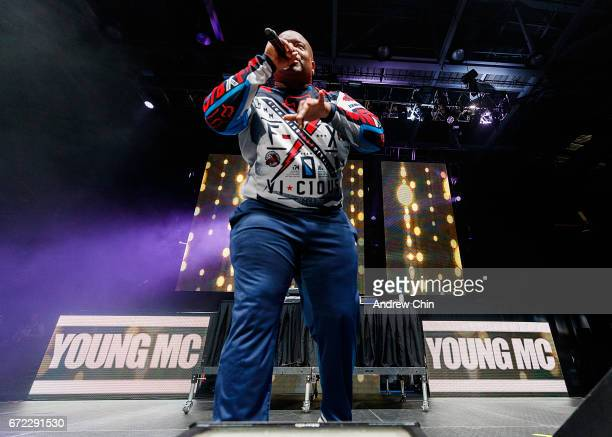 Singer Young MC performs on stage during the 'I Love The 90's Tour' at Abbotsford Centre on April 22 2017 in Abbotsford Canada