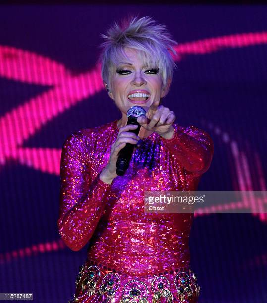 Singer Yuri performs during a concert at Auditorio Nacional on June 3 2011 in Mexico City Mexico