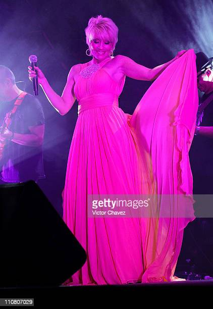 Singer Yuri performs during the Yucatan Moda Nextel 2011 cocktail party at Quinta Montes Molina on March 19 2011 in Merida Mexico