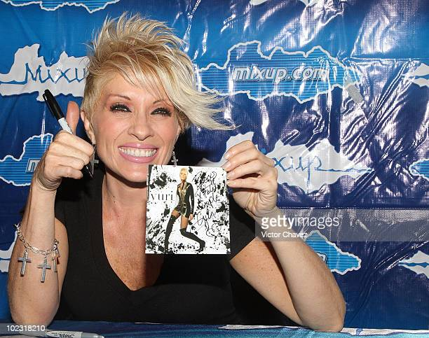 Singer Yuri promotes her new album 'Inusual' at MixUp Reforma 222 on June 22 2010 in Mexico City Mexico
