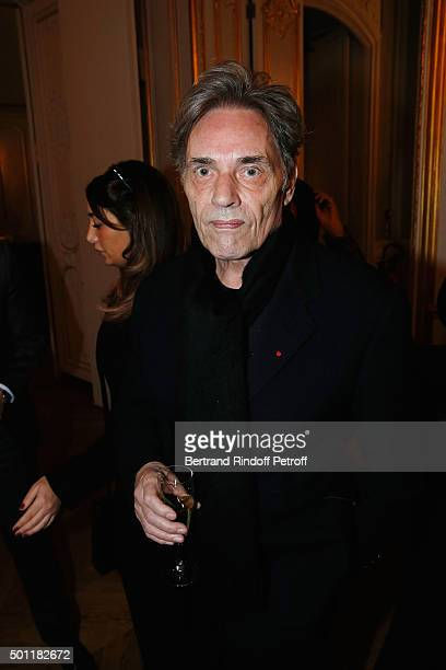 Singer Yves Simon at Laurence Haim Is Honoured With The Insignes De Chevalier De La Legion D'Honneur at Salons FranceAmeriques on December 12 2015 in...