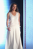 Singer Yvonne Catterfeld attends the 175th edition of the 'Wetten dass' TV show presented by German host Thomas Gottschalk on March 29 2008 in Erfurt...