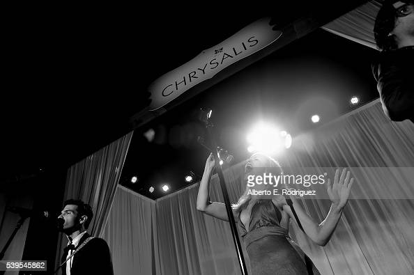 Singer Z Berg of Phases performs onstage during the 15th Annual Chrysalis Butterfly Ball at a Private Residence on June 11 2016 in Brentwood...
