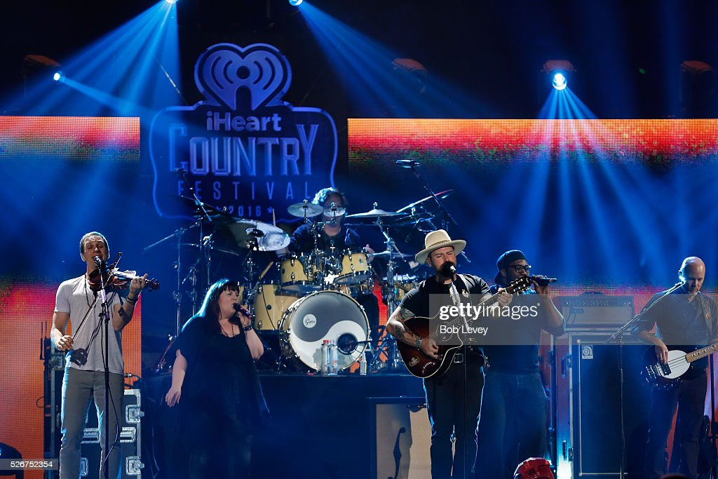 Singer Zac Brown (C) and Zac Brown Band perform onstage during the 2016 iHeartCountry Festival at The Frank Erwin Center on April 30, 2016 in Austin, Texas.