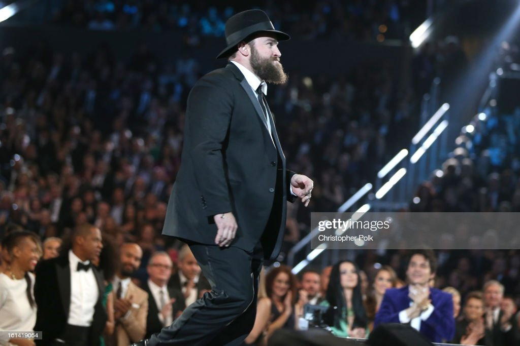 Singer Zac Brown appears onstage during the 55th Annual GRAMMY Awards at STAPLES Center on February 10, 2013 in Los Angeles, California.