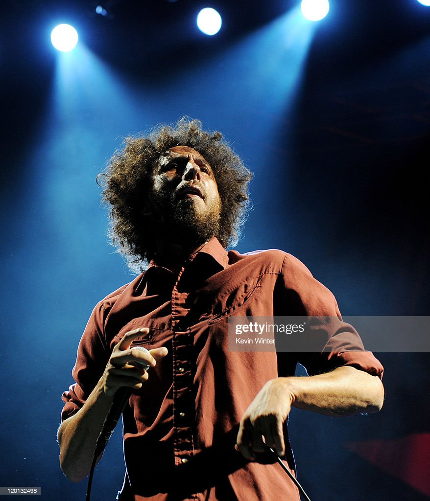 Singer Zack de la Rocha of Rage Against the Machine performs at L.A. Rising at the L.A. Memorial Coliseum on July 30, 2011 in Los Angeles, California.