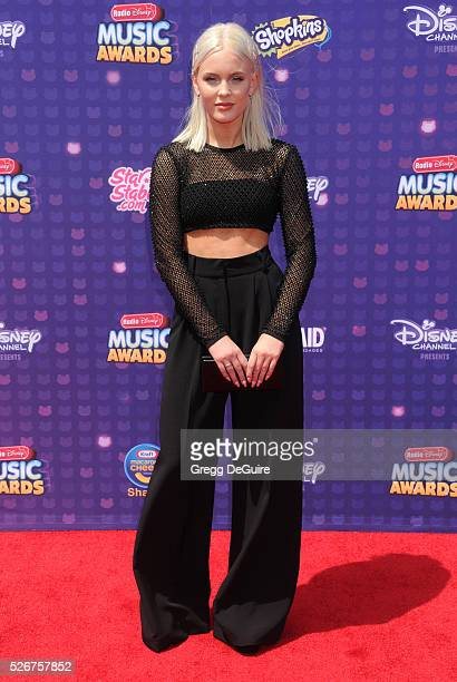 Singer Zara Larsson arrives at the 2016 Radio Disney Music Awards at Microsoft Theater on April 30 2016 in Los Angeles California