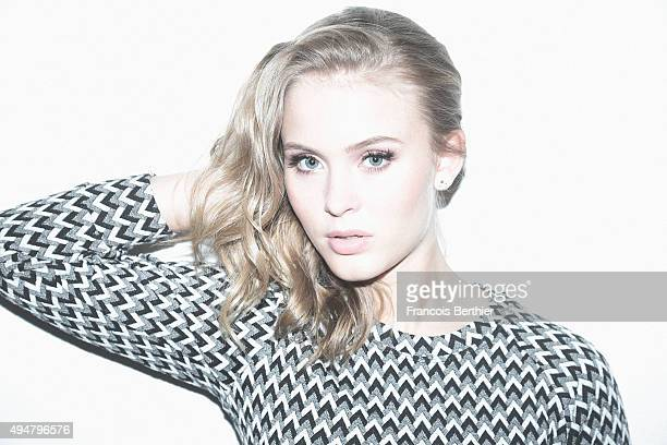 Singer Zara Larsson is photographed for Self Assignment on March 17 2015 in Paris France