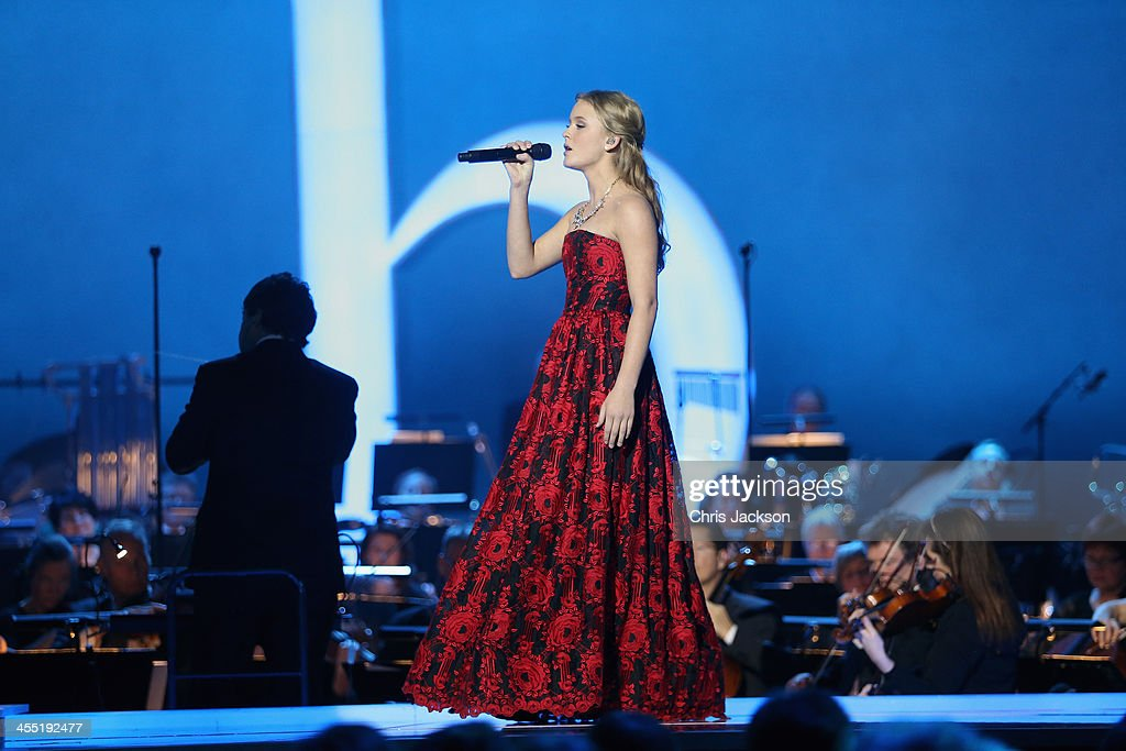 Singer Zara Larsson performs on stage during the 20th annual Nobel Peace Prize Concert on Wednesday, December 11th at the Oslo Spektrum arena in Oslo, Norway.