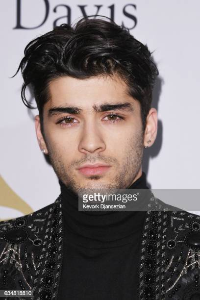 Singer Zayn Malik attends PreGRAMMY Gala and Salute to Industry Icons Honoring Debra Lee at The Beverly Hilton on February 11 2017 in Los Angeles...