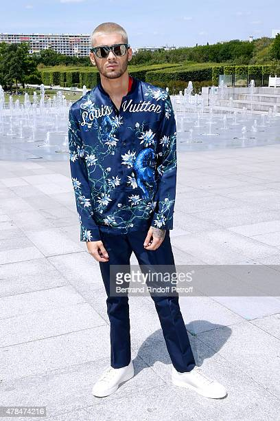 Singer Zayn Malik attends the Louis Vuitton Menswear Spring/Summer 2016 show as part of Paris Fashion Week on June 25 2015 in Paris France