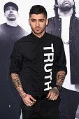 Singer Zayn Malik attends the Universal Pictures and Legendary Pictures' premiere of 'Straight Outta Compton' at Microsoft Theater on August 10 2015...