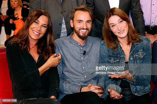Singer Zazie Main Guest of the show singer Christophe Willem and Author of songs from Christophe's new Album 'Paraitil' Carla Bruni attend the...