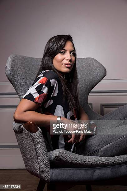 Singer Zehira Darabid aka Zaho is photographed for Paris Match on February 6 2015 in Paris France