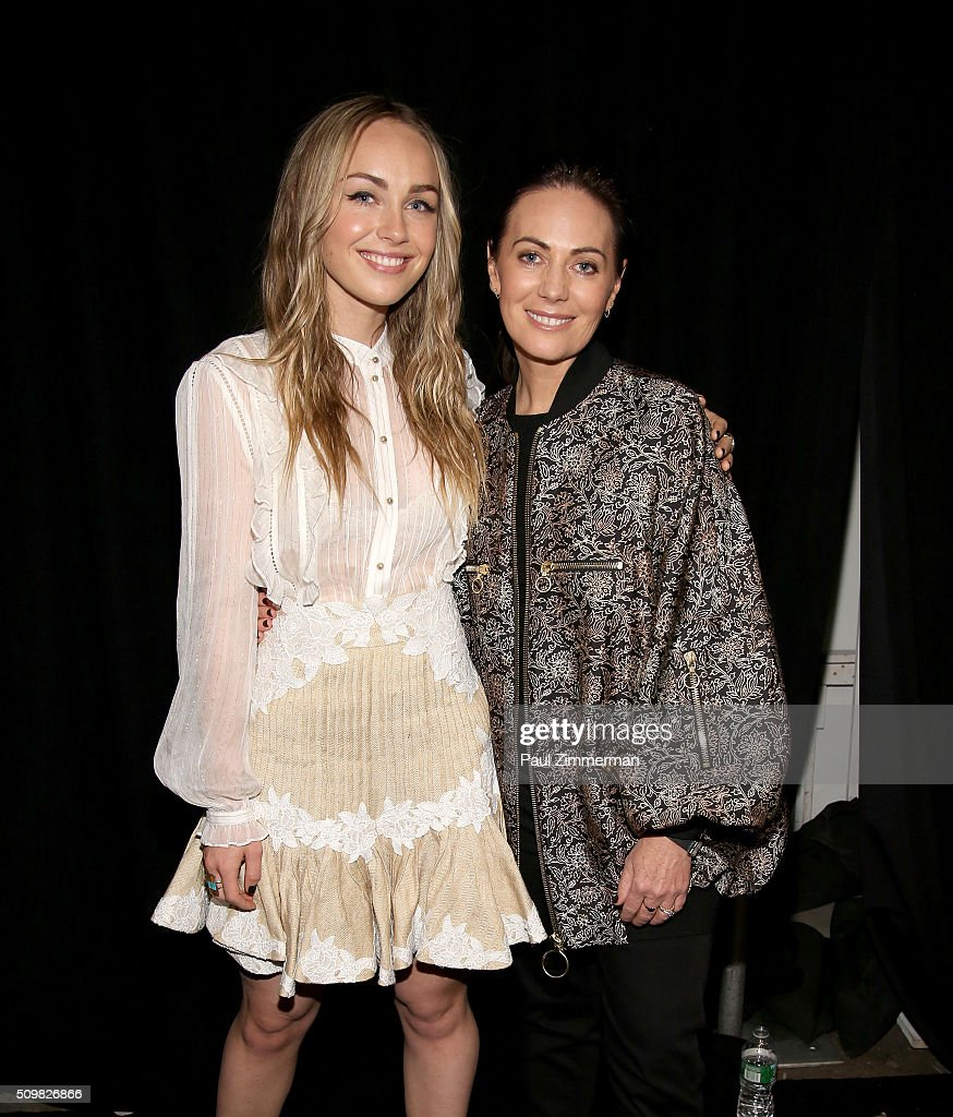 Singer <a gi-track='captionPersonalityLinkClicked' href=/galleries/search?phrase=Zella+Day&family=editorial&specificpeople=12939202 ng-click='$event.stopPropagation()'>Zella Day</a> (L) and designer <a gi-track='captionPersonalityLinkClicked' href=/galleries/search?phrase=Nicky+Zimmermann&family=editorial&specificpeople=2467388 ng-click='$event.stopPropagation()'>Nicky Zimmermann</a> attend Zimmermann Fall 2016 Runway Show at Art Beam on February 12, 2016 in New York City.