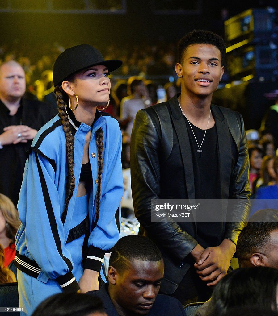 Singer Zendaya and <a gi-track='captionPersonalityLinkClicked' href=/galleries/search?phrase=Trevor+Jackson+-+Performer&family=editorial&specificpeople=2269173 ng-click='$event.stopPropagation()'>Trevor Jackson</a> attend the BET AWARDS '14 at Nokia Theatre L.A. LIVE on June 29, 2014 in Los Angeles, California.
