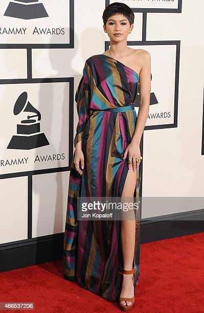 Singer Zendaya arrives at the 57th GRAMMY Awards at Staples Center on February 8 2015 in Los Angeles California