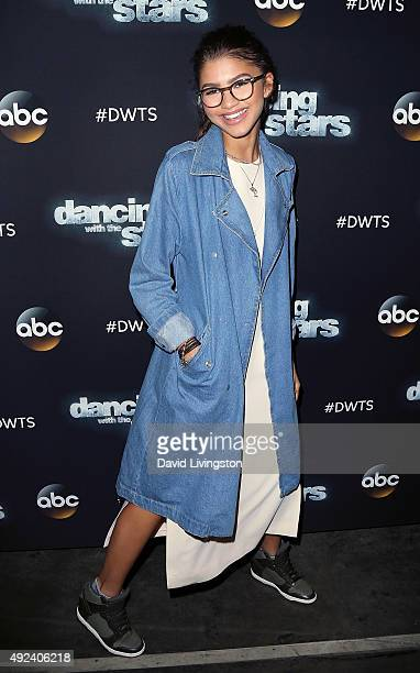 Singer Zendaya attends 'Dancing with the Stars' Season 21 at CBS Television City on October 12 2015 in Los Angeles California