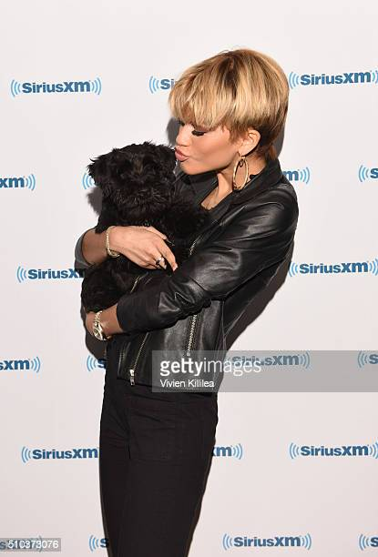Singer Zendaya attends SiriusXM Hits 1's The Morning Mash Up Broadcast From The SiriusXM Studios In Los Angeles at SiriusXM Studios on February 15...
